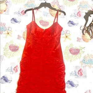 Bebe red dress Large